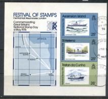 Ascension Is 1976 Festival Of Stamps Joint MS FU - Ascension (Ile De L')