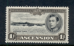 Ascension Is 1938-53 KGVI Pictorials Georgetown 1/- Perf 13 MLH - Ascension