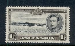 Ascension Is 1938-53 KGVI Pictorials Georgetown 1/- Perf 13 MLH - Ascension (Ile De L')