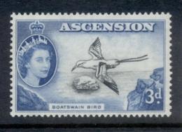Ascension Is 1956 QEII Pictorials Boatswain Bird 3d MUH - Ascension (Ile De L')