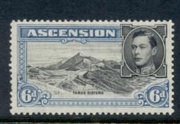 Ascension Is 1938-53 KGVI Pictorials Three Sisters 6d Perf 13 MLH - Ascension (Ile De L')