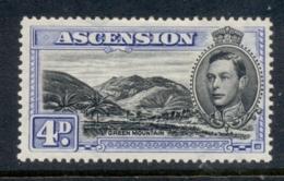 Ascension Is 1938-53 KGVI Pictorials Green Mountain 4d Perf 13.5 MLH - Ascension (Ile De L')