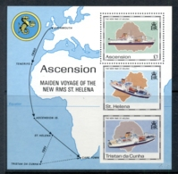 Ascension Is 1990 Maiden Voyage Of RMS St Helena MS - Ascension