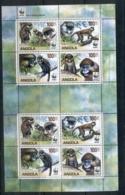 Angola 2011 WWF Primates, Guenons MS MUH - Alderney