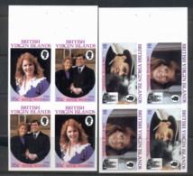 Virgin Is 1986 Royal Wedding Andrew & Sarah 2x Booklet Panes IMPERF - British Virgin Islands