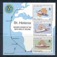 St Helena 1990 Maiden Voyage Of  The New RMS St Helena MS MUH - Saint Helena Island