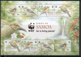 Samoa 2009 WWF Landbirds Of Samoa MS MUH - Samoa