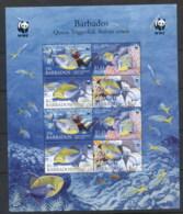 Barbados 2006 WWF Queen Triggerfish MS MUH - Barbades (1966-...)