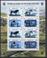 Mongolia 2000 WWF Przewalski's Horse Hologram Sheetlet MUH - Mongolia
