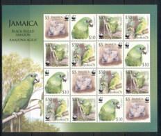 Jamaica 2006 WWF Black Billed Amazon Sheetlet MUH - Jamaica (1962-...)