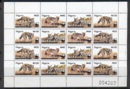 Nigeria 2003 WWF Side Striped Jackal Sheetlet MUH - Nigeria (1961-...)