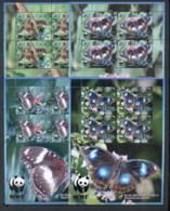 Aitutaki 2008 WWF Blue Moon Butterfly 4xMS MUH - Aitutaki