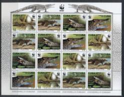 Caribbean Is 2003 WWF Crocodile Sheetlet MUH - Cuba