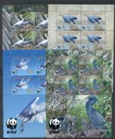 Penrhyn Is 2008 WWF Pacific Reef Egret 4xMS MUH - Penrhyn