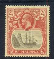St Helena 1922-27 Badge Of The Colony 2/6d Chalky Paper MLH - Sainte-Hélène