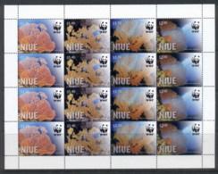 Niue 2012 WWF Giant Sea Fan Sheetlet MUH - Niue
