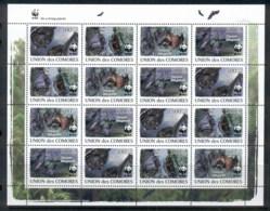 Comoro Is 2009 WWF Fruit Bat Sheetlet MUH - Comoros