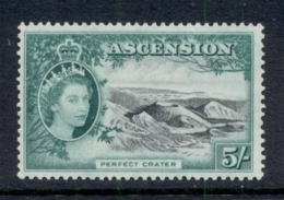 Ascension Is 1956 QEII Pictorials Perfect Crater 5/- MUH - Ascension