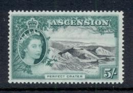Ascension Is 1956 QEII Pictorials Perfect Crater 5/- MUH - Ascension (Ile De L')