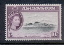 Ascension Is 1956 QEII Pictorials View From Northwest 10/- MUH - Ascension