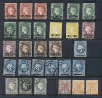 St Helena 1884 On QV Assorted Inc Duplicates, Mint, Used & Remaindered - Sainte-Hélène