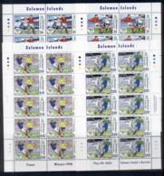 Solomon Is 2006 World Cup Soccer Championships Germany 4x Sheetlets MUH - Salomon (Iles 1978-...)