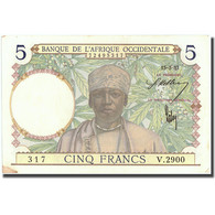 Billet, French West Africa, 5 Francs, 1937, 1937-03-15, KM:21, SUP - États D'Afrique De L'Ouest
