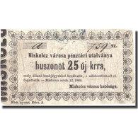 Billet, Hongrie, 25 Kroner, 1860, 1860-10-12, TB+ - Hongrie