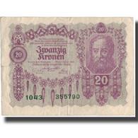 Billet, Autriche, 20 Kronen, 1922-01-02, KM:76, TB+ - Autriche