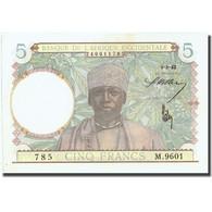 Billet, French West Africa, 5 Francs, 1942, 1942-05-06, KM:25, SPL+ - États D'Afrique De L'Ouest