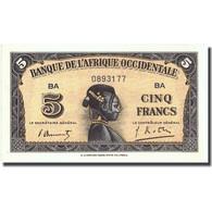 Billet, French West Africa, 5 Francs, 1942, 1942-12-14, KM:28b, SPL+ - États D'Afrique De L'Ouest