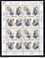 MONACO 2000 -  FEUILLE X 4 ( Y.T. N°  2250 - Quatre Evangélistes ) NEUF** - Blocs