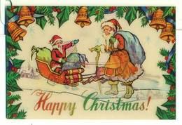 Trójwymiarowa Lenticulaire 3D - Świąteczna Święty Mikołaj Santa Claus - Santa Claus