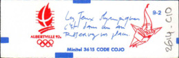 France Carnet N** Yv:2614-C10 Yv:14 Euro 10 Tbres 2,30=23F XVIe JO D'hiver Conf.9-2 - Carnets