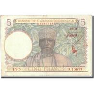 Billet, French West Africa, 5 Francs, 1943, 1943-03-02, KM:26, TTB - États D'Afrique De L'Ouest