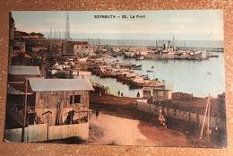 Q0400AB - BEYROUTH Le Port - BEIRUT - Liban - Cachet Poste Aux Armées 600 (orient) + Marine Beyrouth - Liban