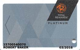 Harrah's Casino Multi-Property - TR Platinum Slot Card @2015 With C-00266583D - Casino Cards