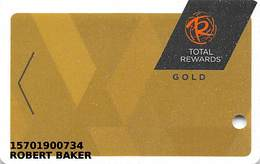 Harrah's Casino Multi-Property - TR Gold Slot Card @2016 With LVC2-00266583B - Casino Cards