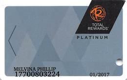 Harrah's Casino Multi-Property - TR Platinum Slot Card @2016 With C2-00266583D - Casino Cards