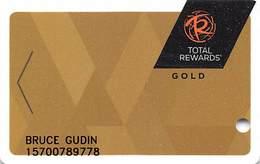 Harrah's Casino Multi-Property - TR Gold Slot Card @2017 With C3-00266583B - Casino Cards