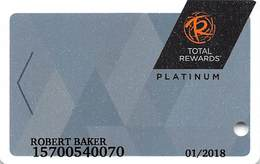 Harrah's Casino Multi-Property - TR Platinum Slot Card @2016 With C3-00266583D - Casino Cards