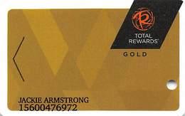 Harrah's Casino Multi-Property - TR Gold Slot Card @2017 With LVC3-00266583B - Casino Cards