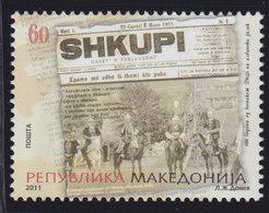 Macedonia 2011 Newspaper Shkupi Centenary, MNH (**) Michel 596 - Macedonia