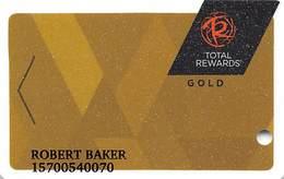 Harrah's Casino Multi-Property - TR Gold Slot Card @2017 With LVC5-00266583B - Casino Cards