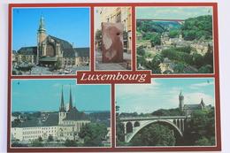Luxembourg - Gare Centrale, Sculpture Fontaine Reve De Pierre /Bertrand Ney/, Cathedrale.. - Postcards