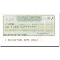 Billet, Italie, 100 Lire, 1976, 1976-12-29, NEUF - [10] Chèques
