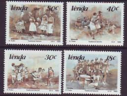 D101225 Venda 1989 South Africa TRADITIONAL DANCING Music MNH Set - Afrique Du Sud Afrika RSA Sudafrika - Venda