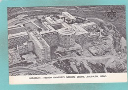 Small Post Card Of Hadassah,Hebrew University Medical Cetre,Jerusalem,Israel,Y77. - Israel