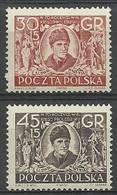 Poland 1952 Mi 762-763 Fi 624-625 MNH ( ZE4 PLD762-763 ) - Pologne