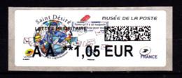 Atm-Lisa / Nouveau Tarif 01/01/19 Lettre Prio AA 1.05 € Saint-Désiré, Musée De La Poste - 2010-... Illustrated Franking Labels